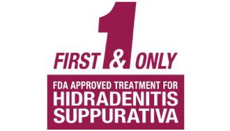 HUMIRA is the first & only FDA approved treatment for hidradenitis suppurativa