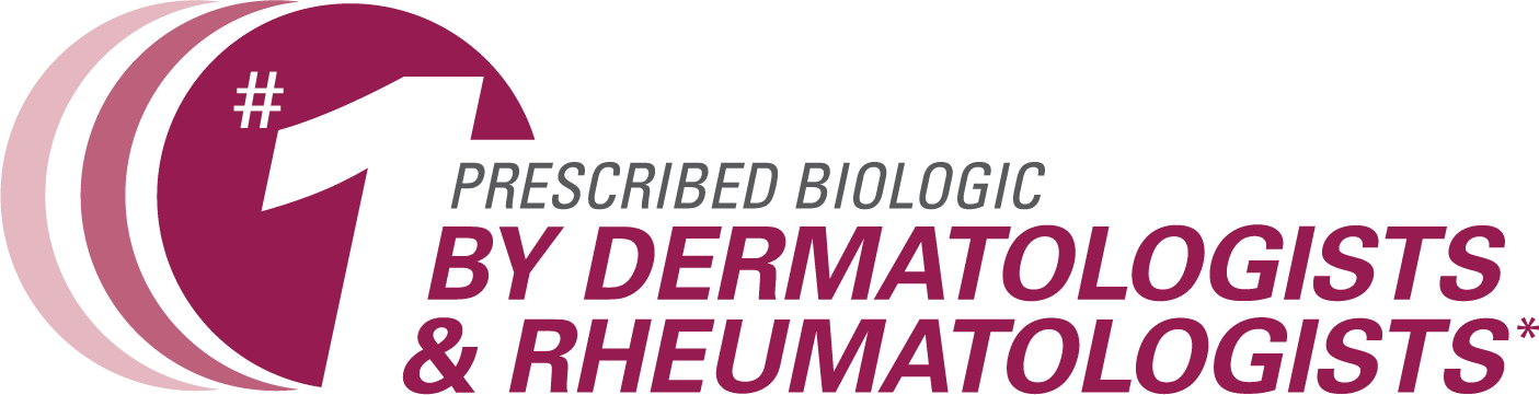 #1 prescribed biologic by dermatologists & rheumatologists