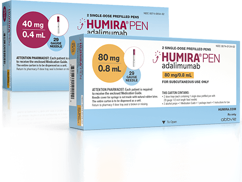HUMIRA citrate-free 40 mg and 80 mg packages